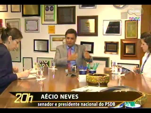 TVCOM 20 Horas - Confira a entrevista com o presidente nacional do PSDB e pré-candidato à Presidência, Aécio Neves - Bloco 2 - 11/11/2013