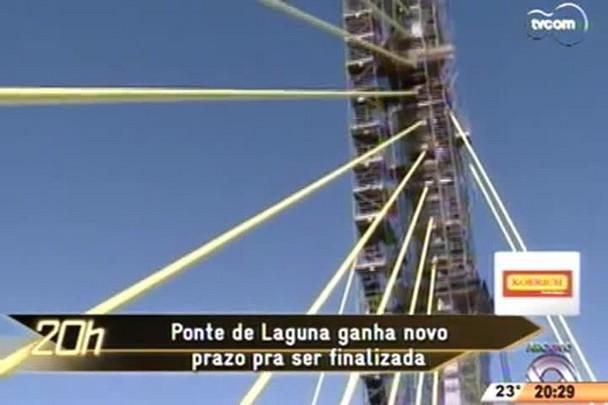 TVCOM 20 Horas - Ponte de Laguna ganha novo prazo para ser fiscalizada - 21.05.15