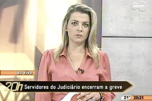 TVCOM 20 Horas - Servidores do judiciário encerram a greve - 25.05.15
