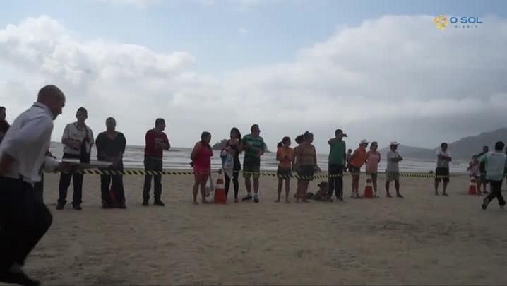 Corrida dos garçons em Balneário Camboriú