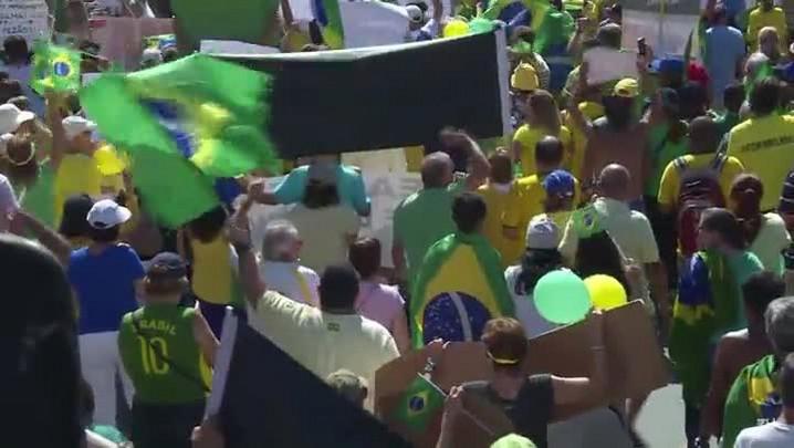 Protestos contra o governo no Brasil