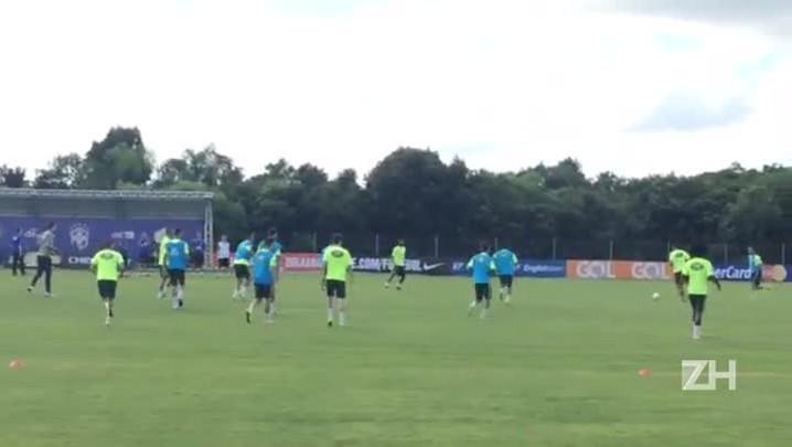 Seleção treina em Viamão antes da viagem ao Paraguai