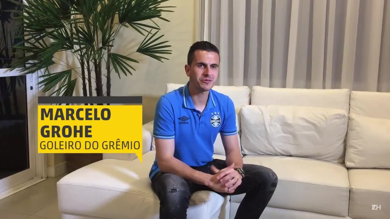 """Após título, Marcelo Grohe brinca: """"O Campeão voltou"""""""