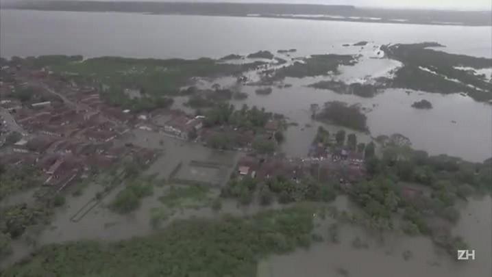 Chuva deixa desabrigados e mortos no Brasil