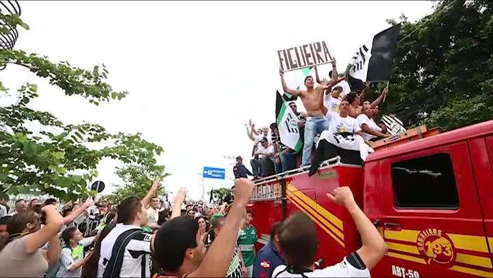Acesso do Figueira - Festa em Florianópolis para receber jogadores