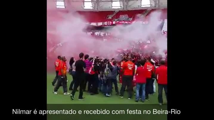 Nilmar é apresentado e recebido com festa no Beira-Rio