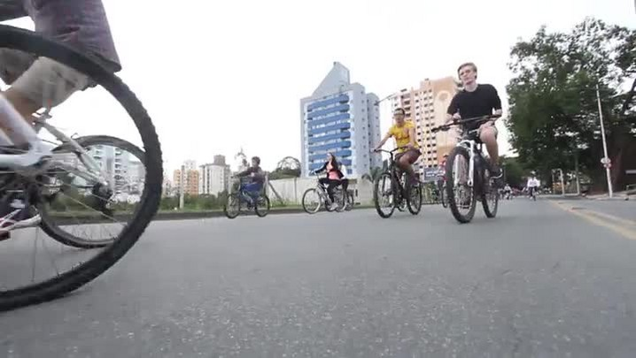 Passeio ciclístico do Grupo Escoteiro Cruzeiro do Sul em Blumenau