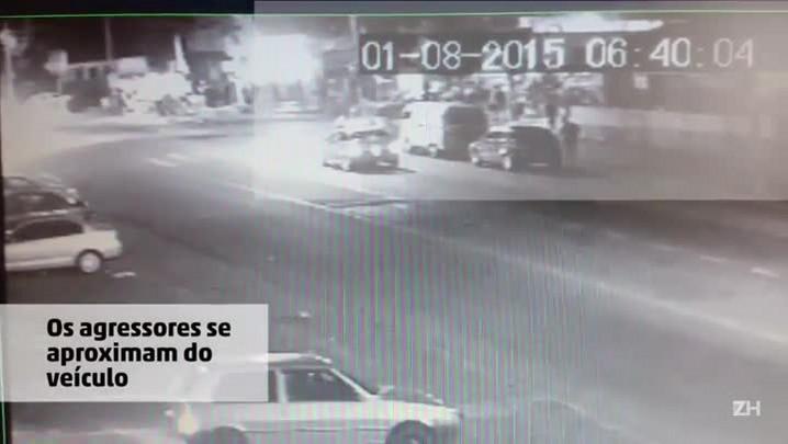 Imagens mostram agressão em frente a clube em Charqueadas