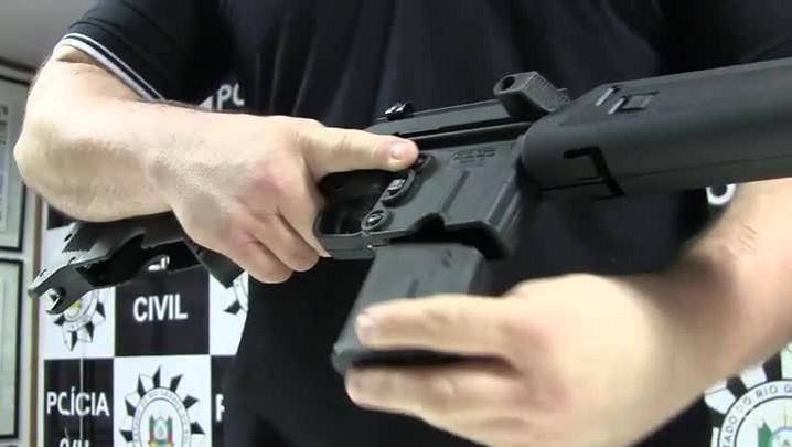 Polícia apreende fuzil norte-americano