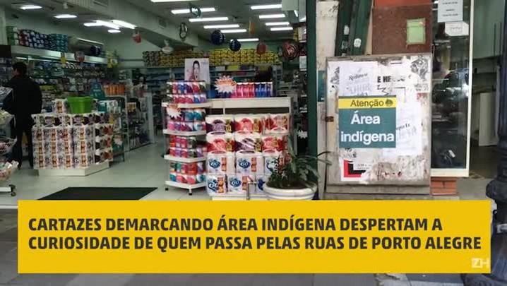 ÁREA INDÍGENA: o que as pessoas pensam sobre os cartazes espalhados por Porto Alegre