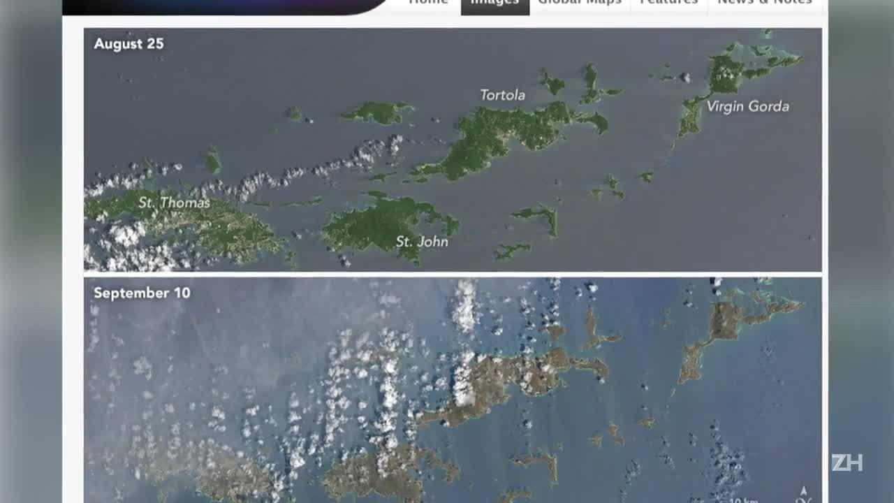 Antes e depois de Irma