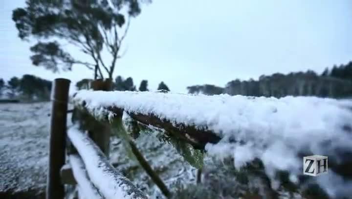A chegada da neve em São José dos Ausentes
