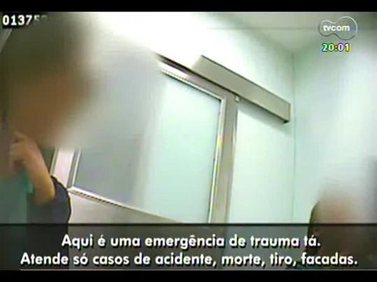 TVCOM 20 Horas - Médicos e pacientes denunciam HPS de POA por barrar atendimento à doentes cardíacos e clínicos - Bloco 1 - 11/03/2014