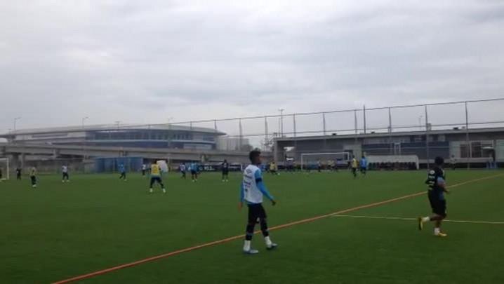 Grêmio se prepara para enfrentar o Fluminense