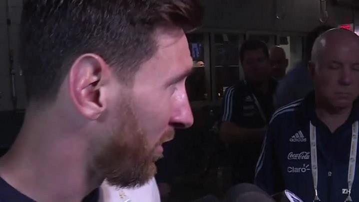 Messi deixa a seleção argentina