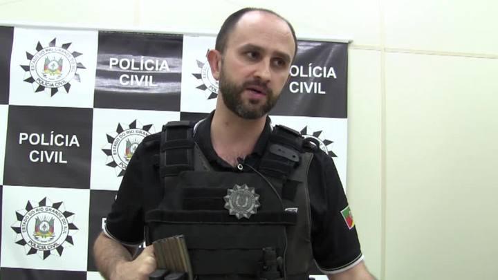 Delegado explica operação para prender suspeito de comandar assalto em São Sepé