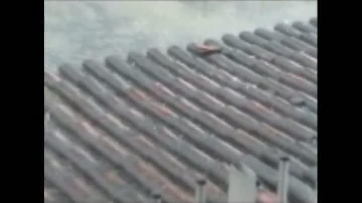 Chuva de granizo no bairro Bom Retiro, em Joinville