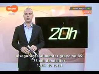TVCOM 20 Horas - Setenta e cinco mil domicílios gaúchos estão em situação de insegurança alimentar grave - 18/12/2014