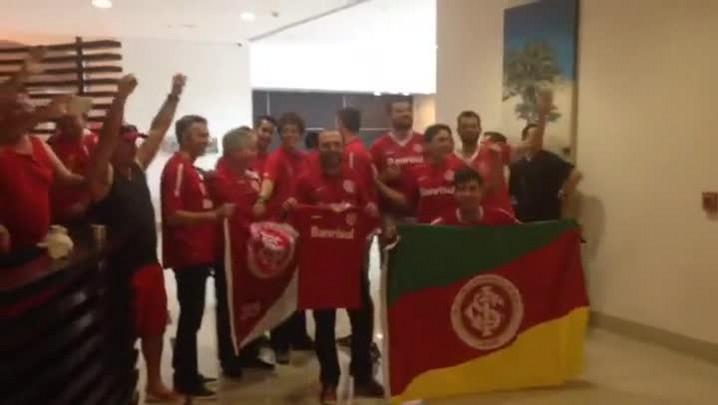 Colorados chegam dos Estados Unidos para apoiar o Inter no México