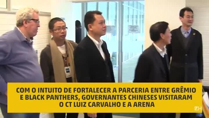 Delegação chinesa visita instalações do Grêmio
