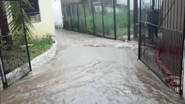Água de arroio invade casa na zona sul de Porto Alegre