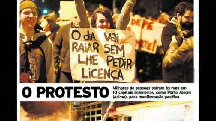 Quem é a menina que ilustrou a capa de Zero Hora e o que ela pensa sobre o protesto