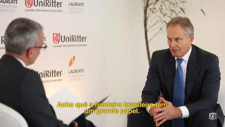 Em Porto Alegre, Tony Blair afirma que o Brasil está destinado a ter um grande papel