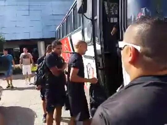 Embarque da torcida do JEC rumo à Arena Joinville