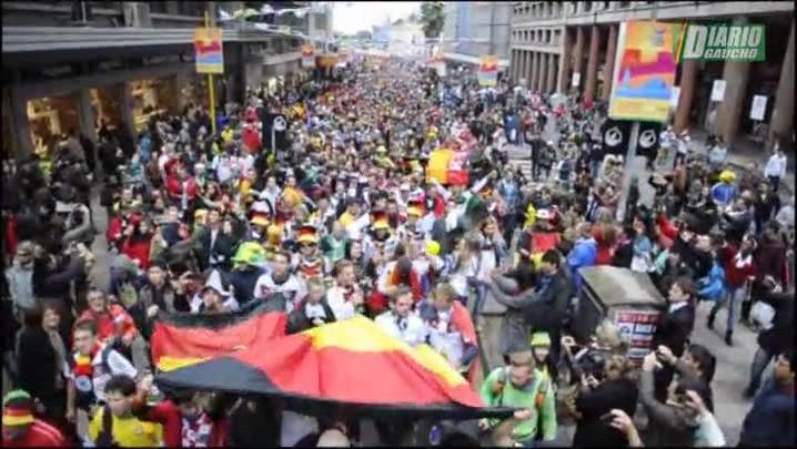 Alemanha e Argélia fazem a festa na Capital