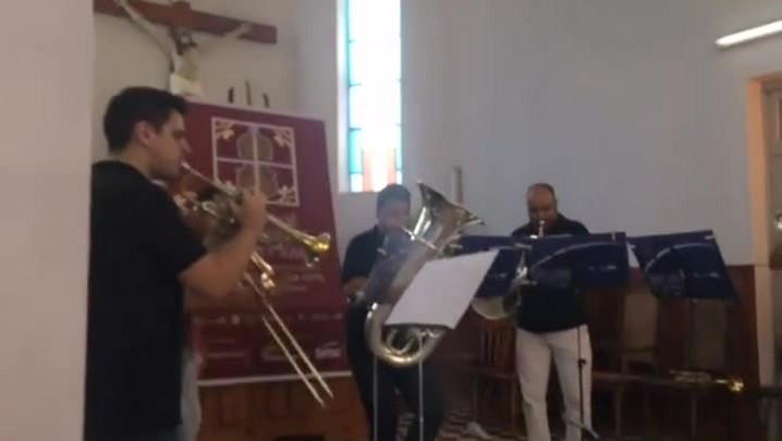 Quinteto Porto Alegre faz show em paróquia da zona rural de Pelotas