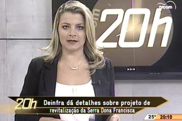 TVCOM 20 Horas - Deinfra dá detalhes sobre projeto de revitalização da Serra Dona Francisca - 14.04.15