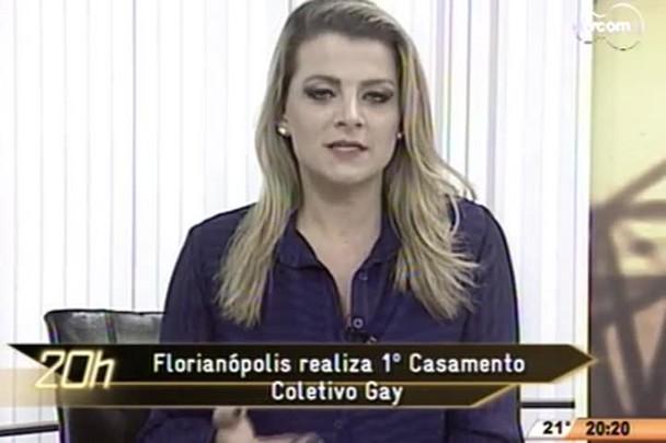 TVCOM 20 Horas - Florianópolis realiza 1º Casamento Coletivo Gay; e é um dos principais destinos LGBT do país - 05.06.15