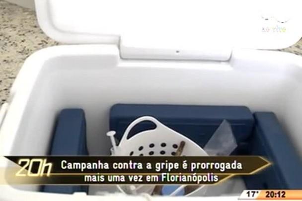 TVCOM 20 Horas - Campanha contra a gripe é prorrogada mais uma vez em Florianópolis - 15.06.15