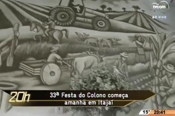 TVCOM 20 Horas - 33ª Festa do Colono começa na quinta-feira em Itajaí - 22.07.15