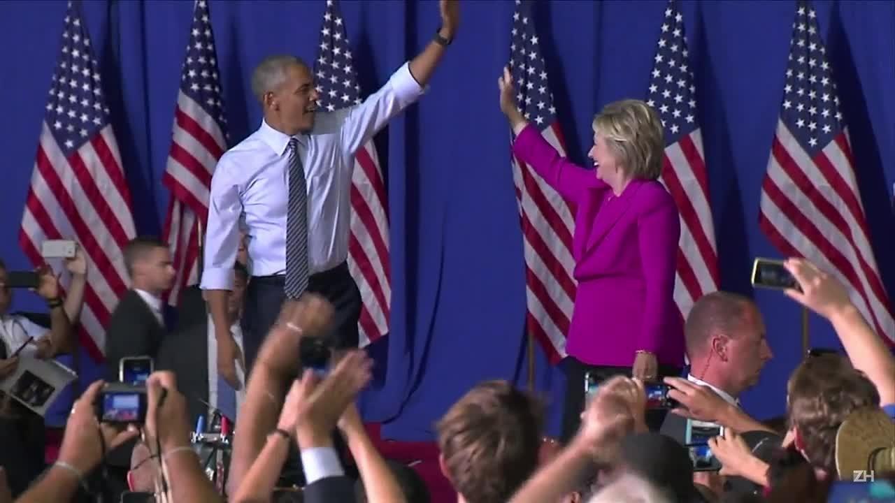 Obama faz comício com Hillary