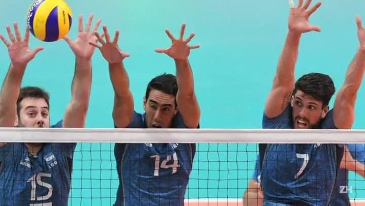 Brasil vence Argentina e está nas semifinais do vôlei masculino
