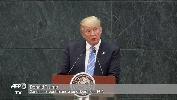 Trump diz que México pagará muro na fronteira