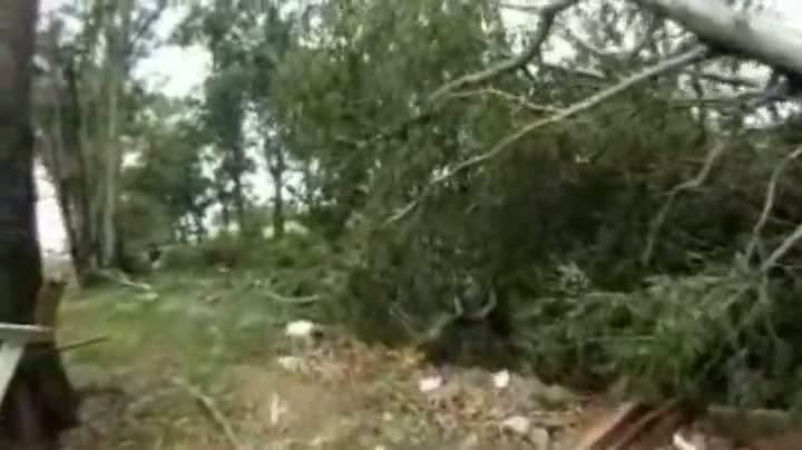 Estragos causados por forte vento e chuva em Rio Grande