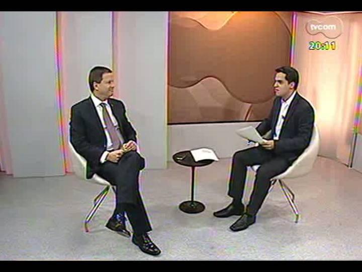 """TVCOM 20 Horas - Vice-presidente OAB-RS explica o projeto \""""Eleições limpas\"""" - Bloco 2 - 02/09/2013"""