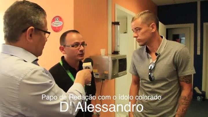 """Bate-Papo com D'Alessandro """"Vou sentir falta quando sair do inter"""""""