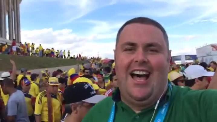 Gigante na Copa: Colombianos comemoram vitória sobre Costa do Marfim