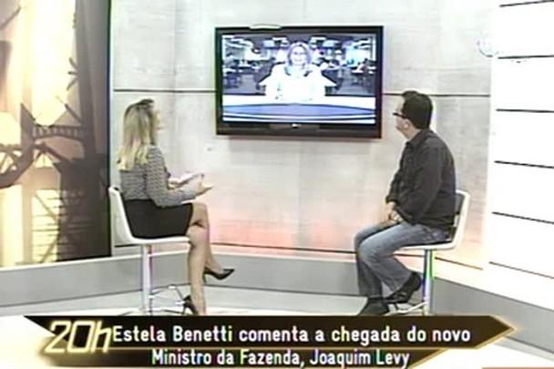 TVCOM 20h - Estela Benetti comenta chegada do novo Ministro da Fazenda, Joaquim Levy - 6.1.15