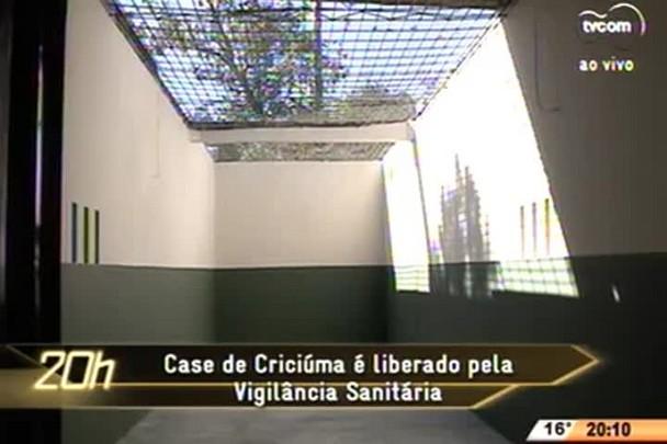 TVCOM 20 Horas - Case de Criciúma é liberado pela Vigilância Sanitária - 16.06.15