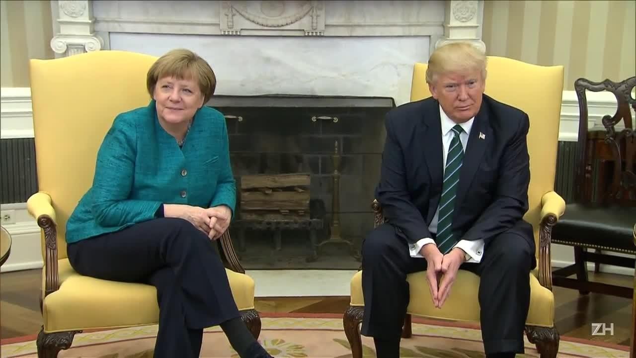 Trump recebe Merkel