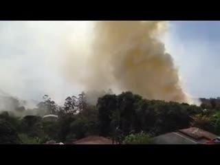 Fumaça sobe e muda direção por cinco minutos em São Francisco do Sul
