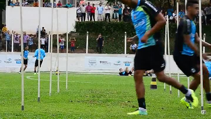 Treino do Grêmio na Serra