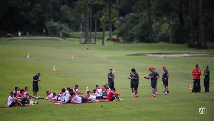 Jogadores do Inter repetem treino físico nesta quarta-feira