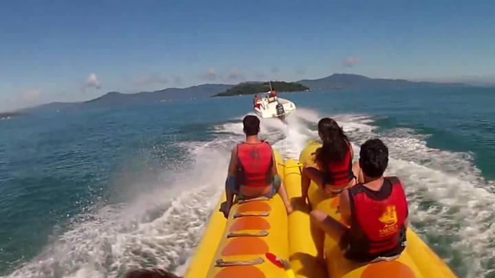 Como está a segurança nos passeios de Banana Boat?