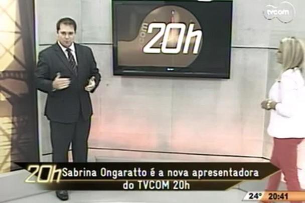 TVCOM 20h - Sabrina Ongaratto é a nova apresentadora do programa - 28.11.14