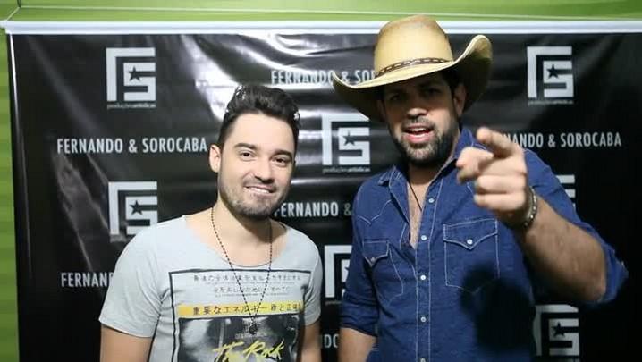 Fernando e Sorocaba convidam para show em Santiago